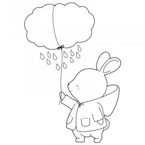 Voici un coloriage de lapin à imprimer gratuitement. Un dessin de lapin à imprimer pour tous les petits amoureux des animaux. Page 04