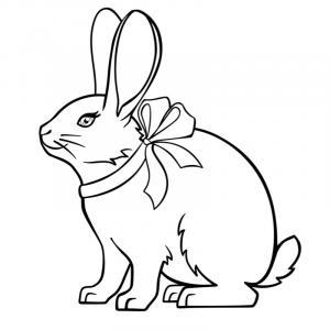 Voici un coloriage de lapin à imprimer gratuitement. Un dessin de lapin à imprimer pour tous les petits amoureux des animaux. Page 05