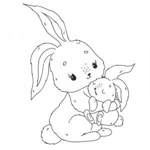 Voici un coloriage de lapin à imprimer gratuitement. Un dessin de lapin à imprimer pour tous les petits amoureux des animaux. Page 06
