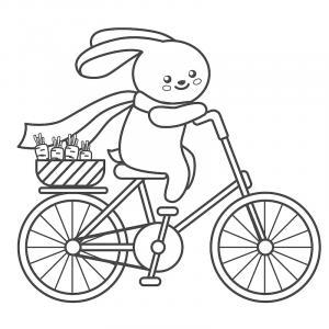 Voici un coloriage de lapin à imprimer gratuitement. Un dessin de lapin à imprimer pour tous les petits amoureux des animaux. Page 09