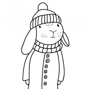 Voici un coloriage de lapin à imprimer gratuitement. Un dessin de lapin à imprimer pour tous les petits amoureux des animaux. Page 10