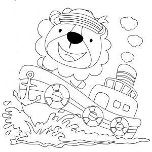 Coloriage lion : un dessin à imprimer avec un beau lion. Un coloriage à gratuit pour les petits amoureux de la savane - Page 2