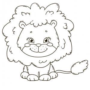 Coloriage lion : un dessin à imprimer avec un beau lion. Un coloriage à gratuit pour les petits amoureux de la savane - Page 3