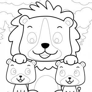 Coloriage lion : un dessin à imprimer avec un beau lion. Un coloriage à gratuit pour les petits amoureux de la savane - Page 4