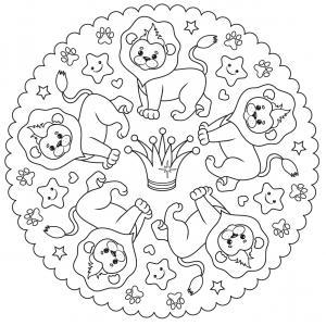 Coloriage lion : un dessin à imprimer avec un beau lion. Un coloriage à gratuit pour les petits amoureux de la savane - Page 8