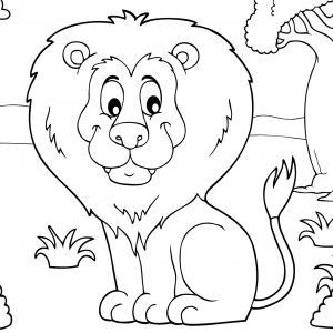Coloriage lion : un dessin à imprimer avec un beau lion. Un coloriage à gratuit pour les petits amoureux de la savane - Page 11