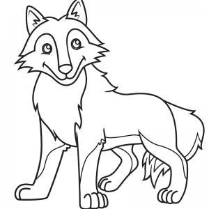 Voici un coloriage loup à imprimer gratuitement. Un dessin de loup à imprimer pour tous les petits amoureux des animaux. Page 7