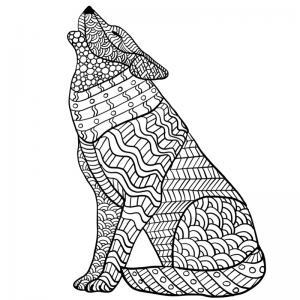 Voici un coloriage loup à imprimer gratuitement. Un dessin de loup à imprimer pour tous les petits amoureux des animaux. Page 9