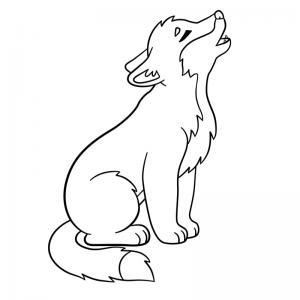 Voici un coloriage loup à imprimer gratuitement. Un dessin de loup à imprimer pour tous les petits amoureux des animaux. Page 10