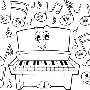 Coloriage musique : voici un dessin à imprimer sur le thème de la musique. Page 05