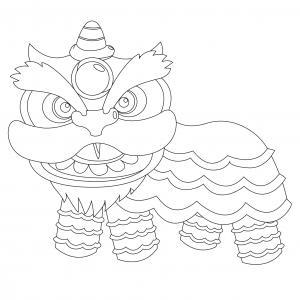 Voici un coloriage du Nouvel An chinois à imprimer gratuitement. Un dessin du Carnaval chinois à imprimer pour tous les petits amoureux de la Chine. Page 15