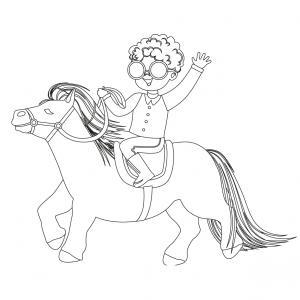 Coloriage poney : voici un dessin à imprimer avec un petit poney. Un coloriage à imprimer sur le thème des poneys - Page 2