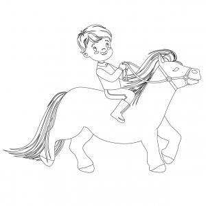 Coloriage poney : voici un dessin à imprimer avec un petit poney. Un coloriage à imprimer sur le thème des poneys - Page 4