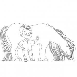 Coloriage poney : voici un dessin à imprimer avec un petit poney. Un coloriage à imprimer sur le thème des poneys - Page 6