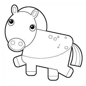Coloriage poney : voici un dessin à imprimer avec un petit poney. Un coloriage à imprimer sur le thème des poneys - Page 9