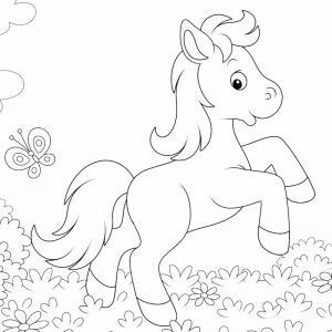 Coloriage poney : voici un dessin à imprimer avec un petit poney. Un coloriage à imprimer sur le thème des poneys - Page 10