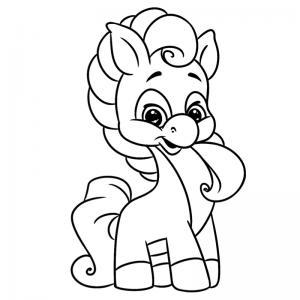Coloriage poney : voici un dessin à imprimer avec un petit poney. Un coloriage à imprimer sur le thème des poneys - Page 13