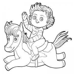 Coloriage poney : voici un dessin à imprimer avec un petit poney. Un coloriage à imprimer sur le thème des poneys - Page 14