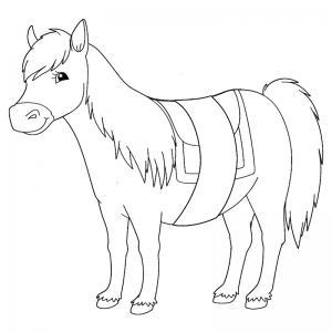 Coloriage poney : voici un dessin à imprimer avec un petit poney. Un coloriage à imprimer sur le thème des poneys - Page 15