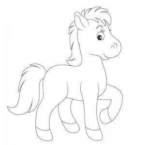 Coloriage poney : voici un dessin à imprimer avec un petit poney. Un coloriage à imprimer sur le thème des poneys - Page 16