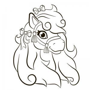 Coloriage poney : voici un dessin à imprimer avec un petit poney. Un coloriage à imprimer sur le thème des poneys - Page 18