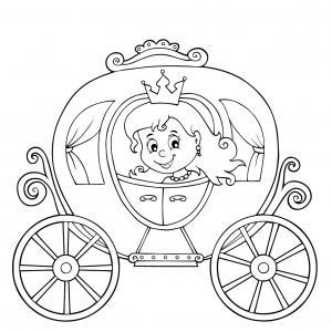 Un coloriage de princesse à imprimer gratuitement pour tous les enfants qui aiment les histoires fantastiques. Modèle 06