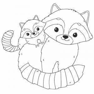 Voici un coloriage de raton laveur à imprimer gratuitement. Un dessin de raton à imprimer pour tous les petits amoureux des animaux. Page 01