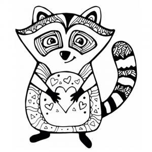 Voici un coloriage de raton laveur à imprimer gratuitement. Un dessin de raton à imprimer pour tous les petits amoureux des animaux. Page 04