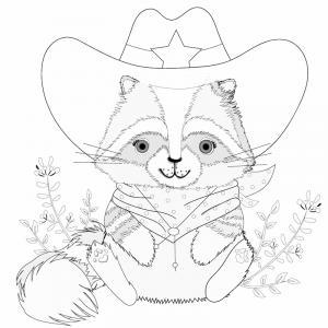 Voici un coloriage de raton laveur à imprimer gratuitement. Un dessin de raton à imprimer pour tous les petits amoureux des animaux. Page 06