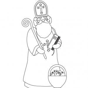 Imprimez votre coloriage de Saint Nicolas gratuitement et proposez à votre enfant de colorier un adorable St Nicolas - Page 1