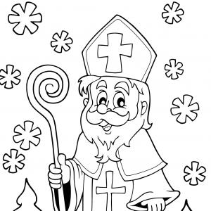 Imprimez votre coloriage de Saint Nicolas gratuitement et proposez à votre enfant de colorier un adorable St Nicolas - Page 2