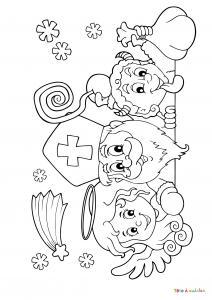 Imprimez votre coloriage de Saint Nicolas gratuitement et proposez à votre enfant de colorier un adorable St Nicolas - Page 10