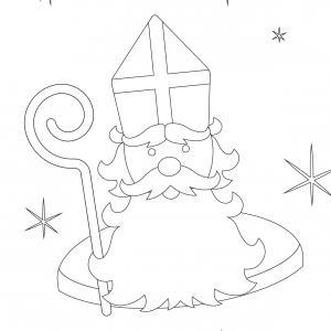 Imprimez votre coloriage de Saint Nicolas gratuitement et proposez à votre enfant de colorier un adorable St Nicolas - Page 6