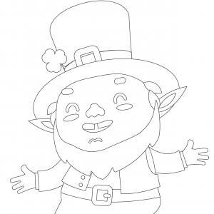Coloriage Saint Patrick à proposer aux enfants qui aiment l'Irlande et cette fête joyeuse. Page 12