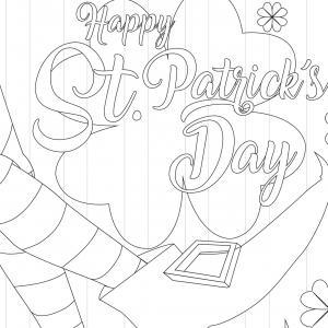 Coloriage Saint Patrick à proposer aux enfants qui aiment l'Irlande et cette fête joyeuse. Page 3