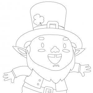 Coloriage Saint Patrick à proposer aux enfants qui aiment l'Irlande et cette fête joyeuse. Page 8