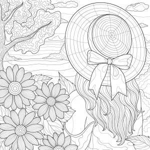 Imprimez votre coloriage de Sainte Catherine gratuitement et proposez à votre enfant de colorier une catherinette ou des chapeaux pour fêter la Sainte Catherine  - Page 01