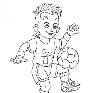 Coloriage sport : un dessin à imprimer avec des enfants sportifs. Un coloriage gratuit pour les petits amoureux du sport - Page 8