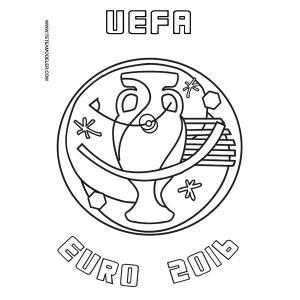 Coloriage sur l'Euro 2016 à imprimer