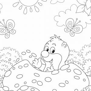 Coloriage d'une taupe : un dessin à imprimer gratuitement pour tous les petits amoureux des animaux - Page 06