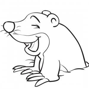 Coloriage d'une taupe : un dessin à imprimer gratuitement pour tous les petits amoureux des animaux - Page 08