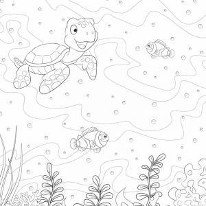 Voici un coloriage de tortue à imprimer gratuitement. Un dessin de tortue à imprimer pour tous les petits amoureux des animaux de la mer. Page 08