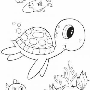 Voici un coloriage de tortue à imprimer gratuitement. Un dessin de tortue à imprimer pour tous les petits amoureux des animaux de la mer. Page 09