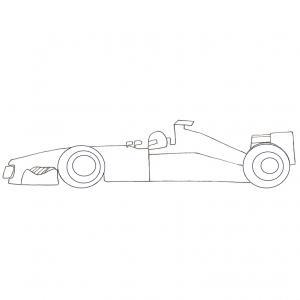 Coloriage voiture de course - dessin11