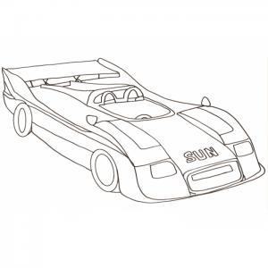 Coloriage voiture de course F1 2001