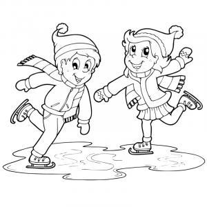 Coloriages sur les Jeux d'hiver : ski et patinage. Des coloriages à imprimer sur les sports des Jeux d'hiver. Cette année, les Jeux d'hiver 2010 se tiennent à Vancouver au Canada.