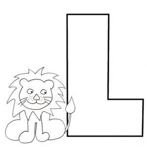 Colorie le L de l'alphabet comme LION