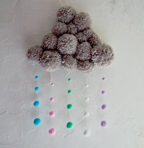 Un tuto pour apprendre à réaliser un nuage de pompons en suspension
