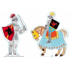 Deux décorations de gâteau à imprimer pour réaliser une belle décoration de gâteau sur le thème des chevaliers