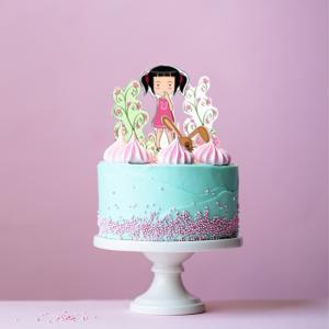 Décorations de gâteau à imprimer sur le thème du jardin et des fleurs. Un kit de décorations de gâteau à imprimer pour transformer un gâteau plat en un joli jardin de fle